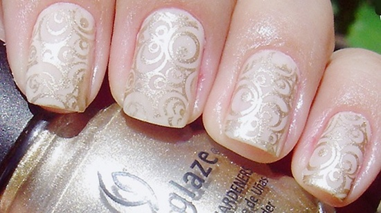 Beautiful flowers design wedding nail art prinsesfo Image collections