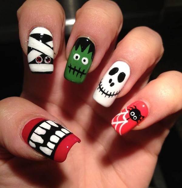50 Cool Halloween Nail Art Design Ideas