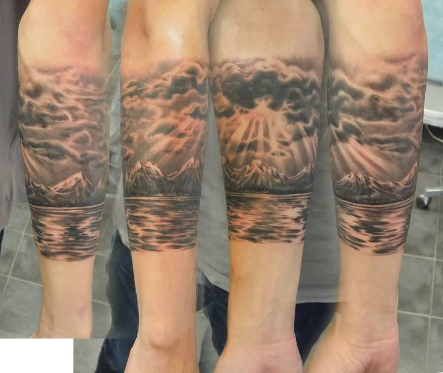 50 Nice Sleeve Mountain Tattoos