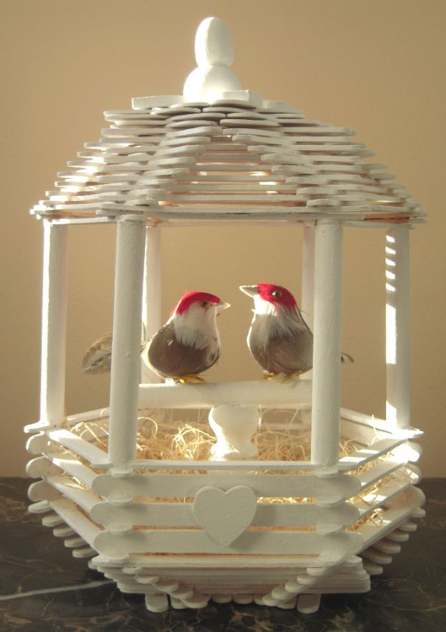 Beautiful Popsicle Stick Birds House