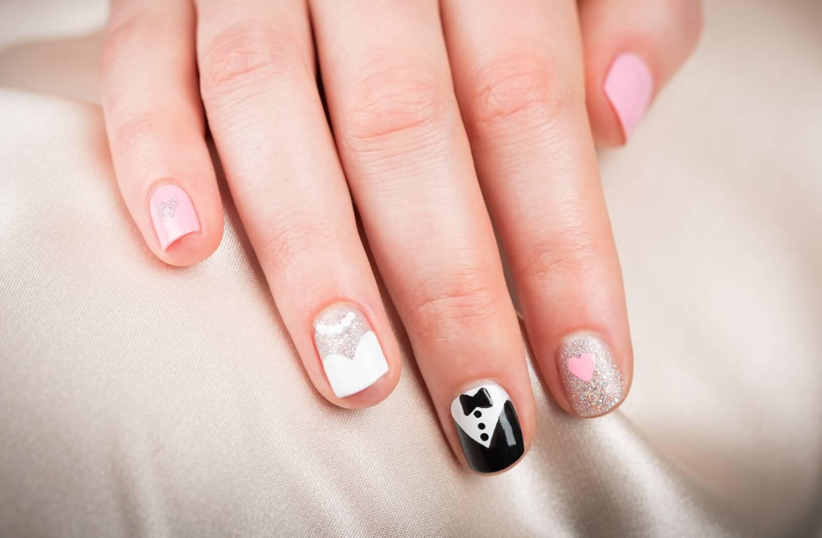 50 Most Beautiful Wedding Nail Art Design Ideas For Bridal