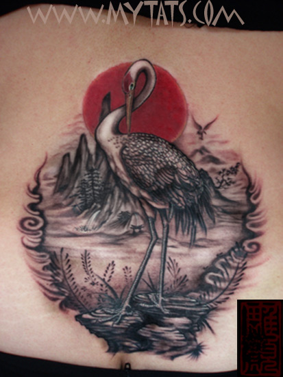 61 incredible crane tattoos
