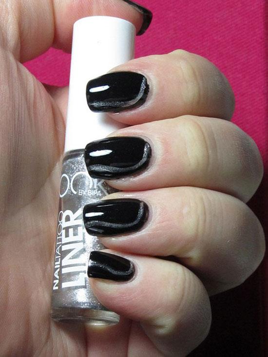 Black Glitter Acrylic Nails 55 Latest Black Nail A...