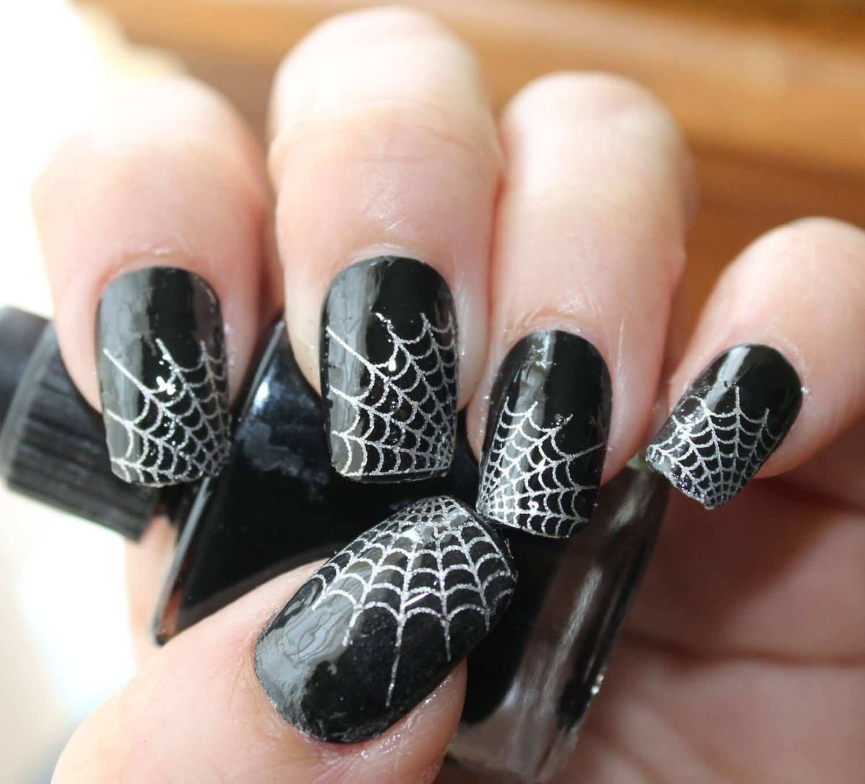Halloween Nail Art Designs Gallery: 50 Most Beautiful Spider Web Halloween Nail Art Designs