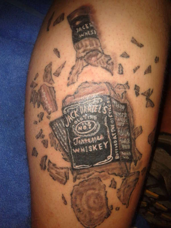 broken wine bottle tattoo pictures to pin on pinterest tattooskid. Black Bedroom Furniture Sets. Home Design Ideas