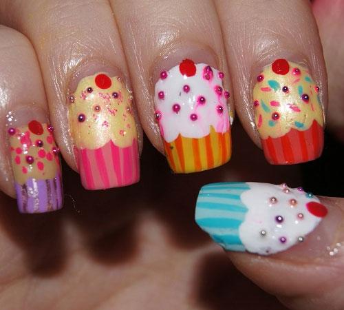 Cupcake Art Design : 35 Cute Cupcake Nail Art Design Ideas For Trendy Girls