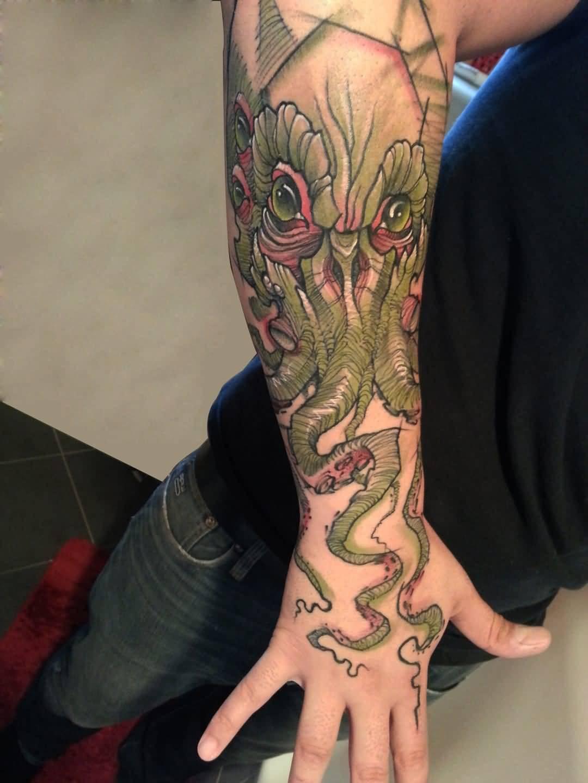 Татуировка осьминог - значение, эскизы тату и фото