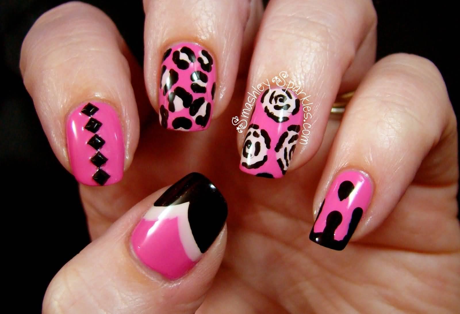 Cute Nail Designs With Red And Black: Nail d polish kiss halloween ...