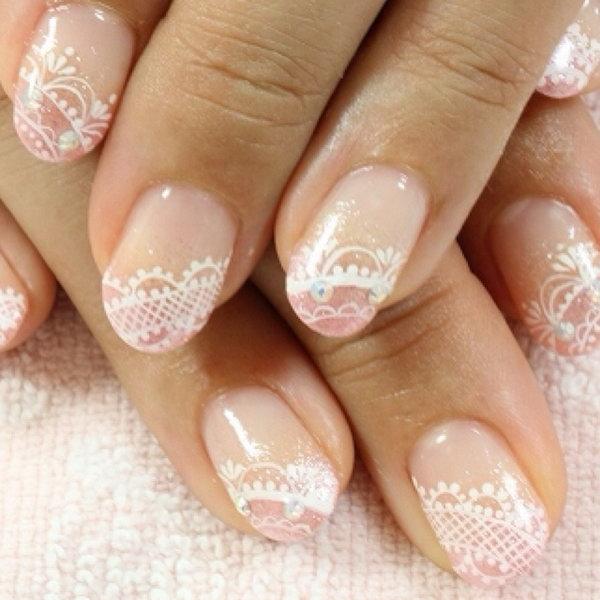 35+ Most Beautiful Wedding Lace Nail Art Designs - photo #18