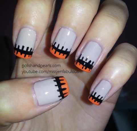 - Easy Halloween Nail Art Design