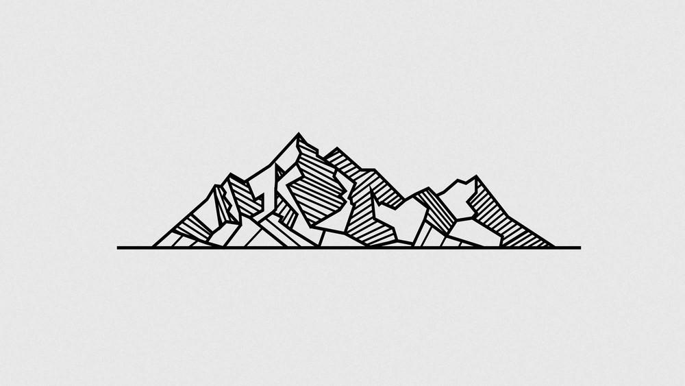 Geometric Line Drawing Tattoo : Geometric mountains tattoos