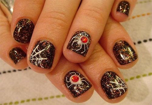 50 Most Beautiful Spider Web Halloween Nail Art Designs