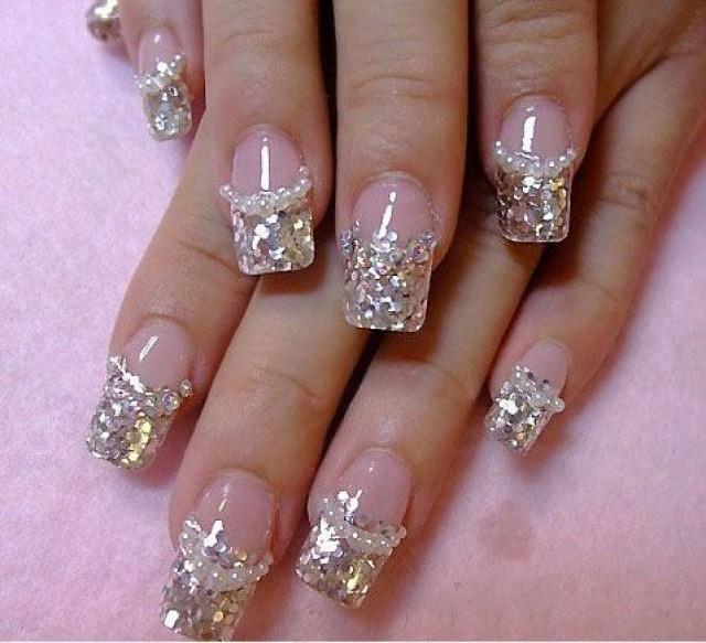 57 Most Beautiful Glitter Nail Art Design Ideas: 50 Most Beautiful Wedding Nail Art Design Ideas For Bridal