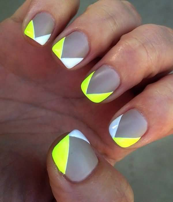 Neon French Tip Nail Designs: 40 Latest Neon Nail Art Designs