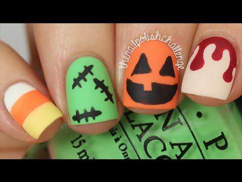50 cool halloween nail art design ideas halloween matte nail art design ideas solutioingenieria Image collections