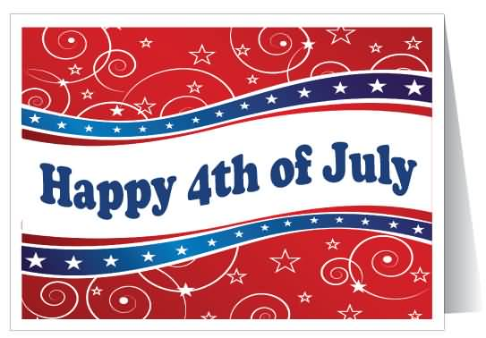 Happy 4th Of July Greeting Card For Loved Ones