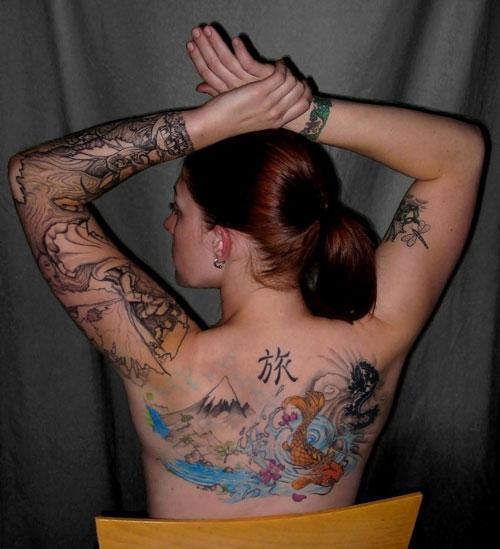 10 Beautiful Mountains Upper Back Tattoos