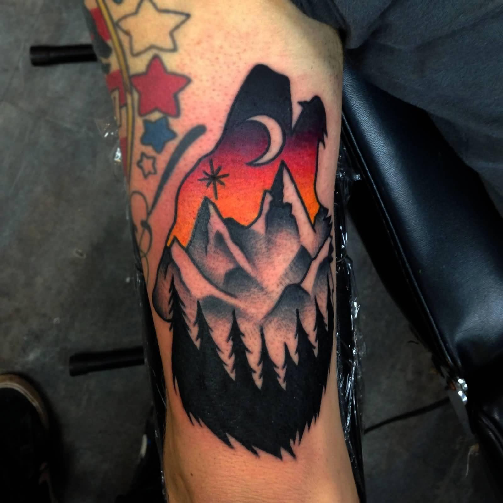 67+ Mountain Tattoos On Sleeve