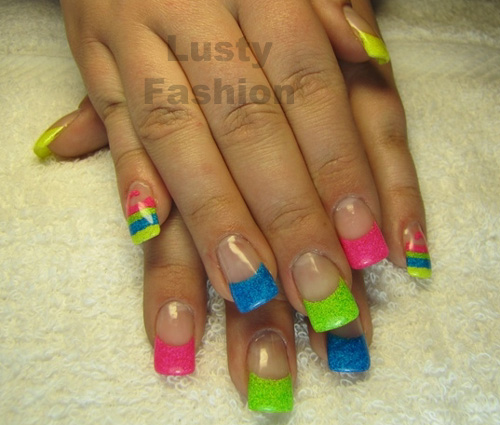 55 Most Beautiful Neon Nail Art Design Ideas