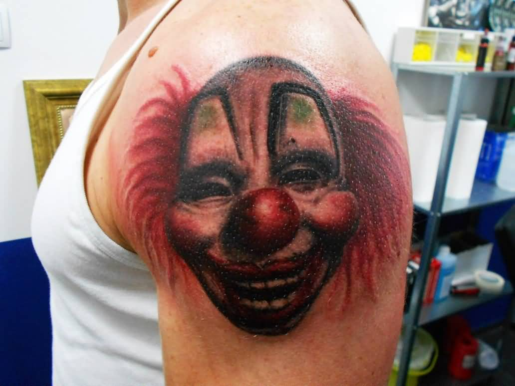 10 slipknot mask tattoos for Clown mask tattoos