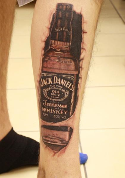8 jack daniels tattoos on leg. Black Bedroom Furniture Sets. Home Design Ideas