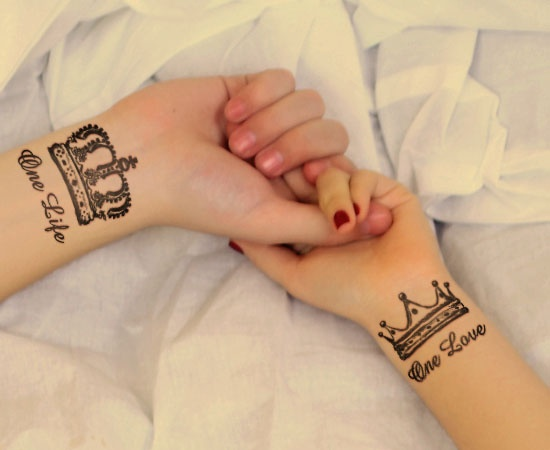 king and queen relationship tattoos together