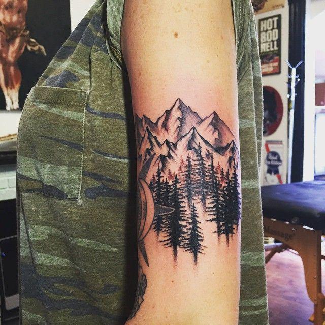 Mountain Tattoo Design: 67+ Mountain Tattoos On Sleeve