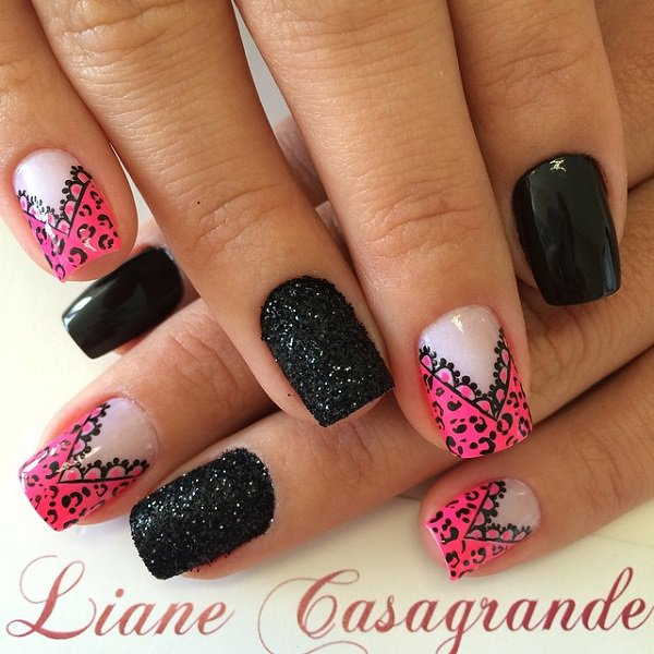 Black and pink nail art images nail art and nail design ideas 51 most stylish black and pink nail art design ideas pink and black beautiful nail art prinsesfo Image collections