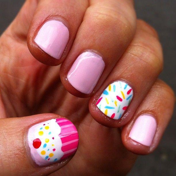 Cupcake Nails: 51 Wonderful Cupcake Nail Art Design Ideas For Girls