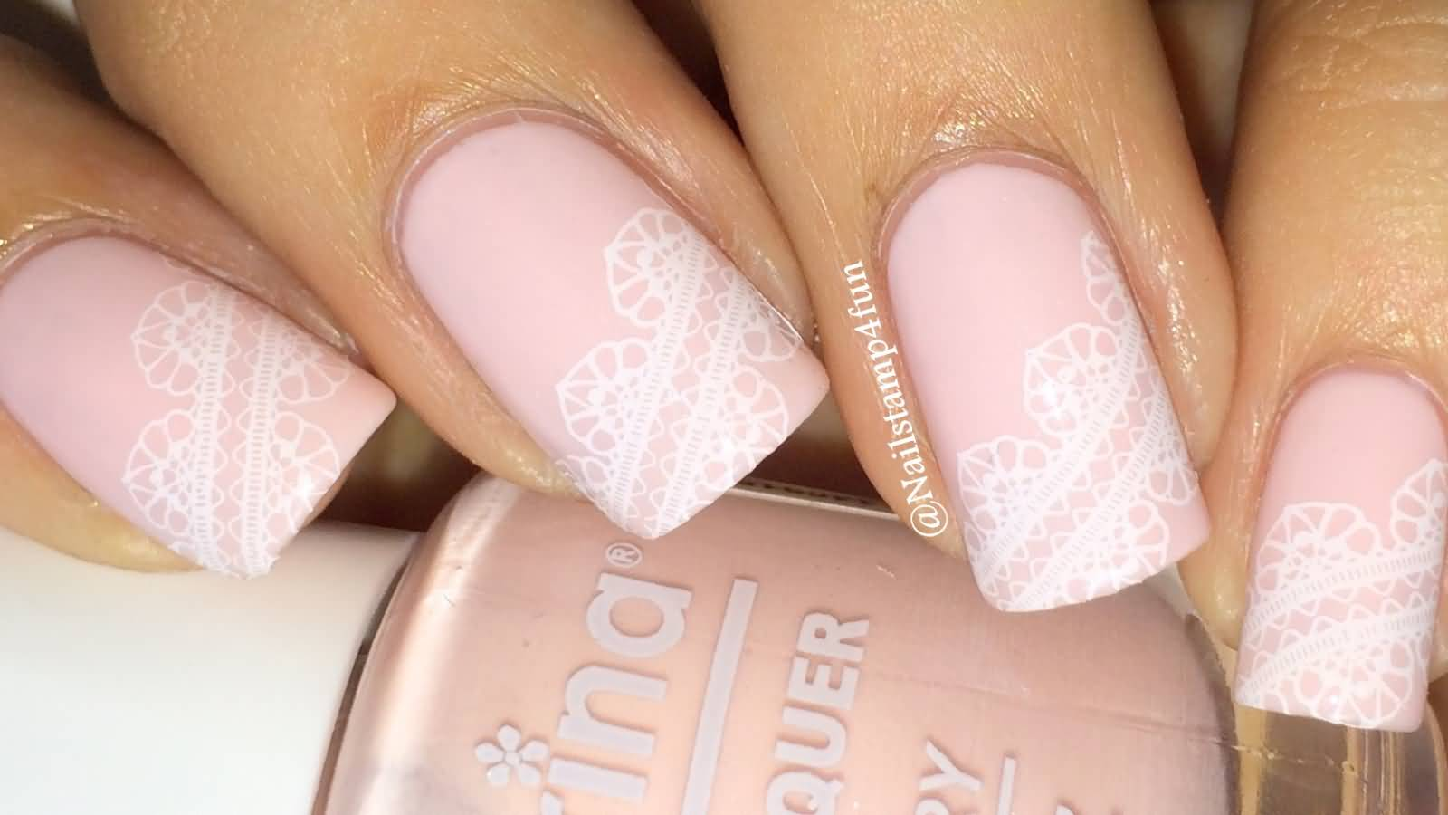 White And Pink Nail Polish Designs Hession Hairdressing