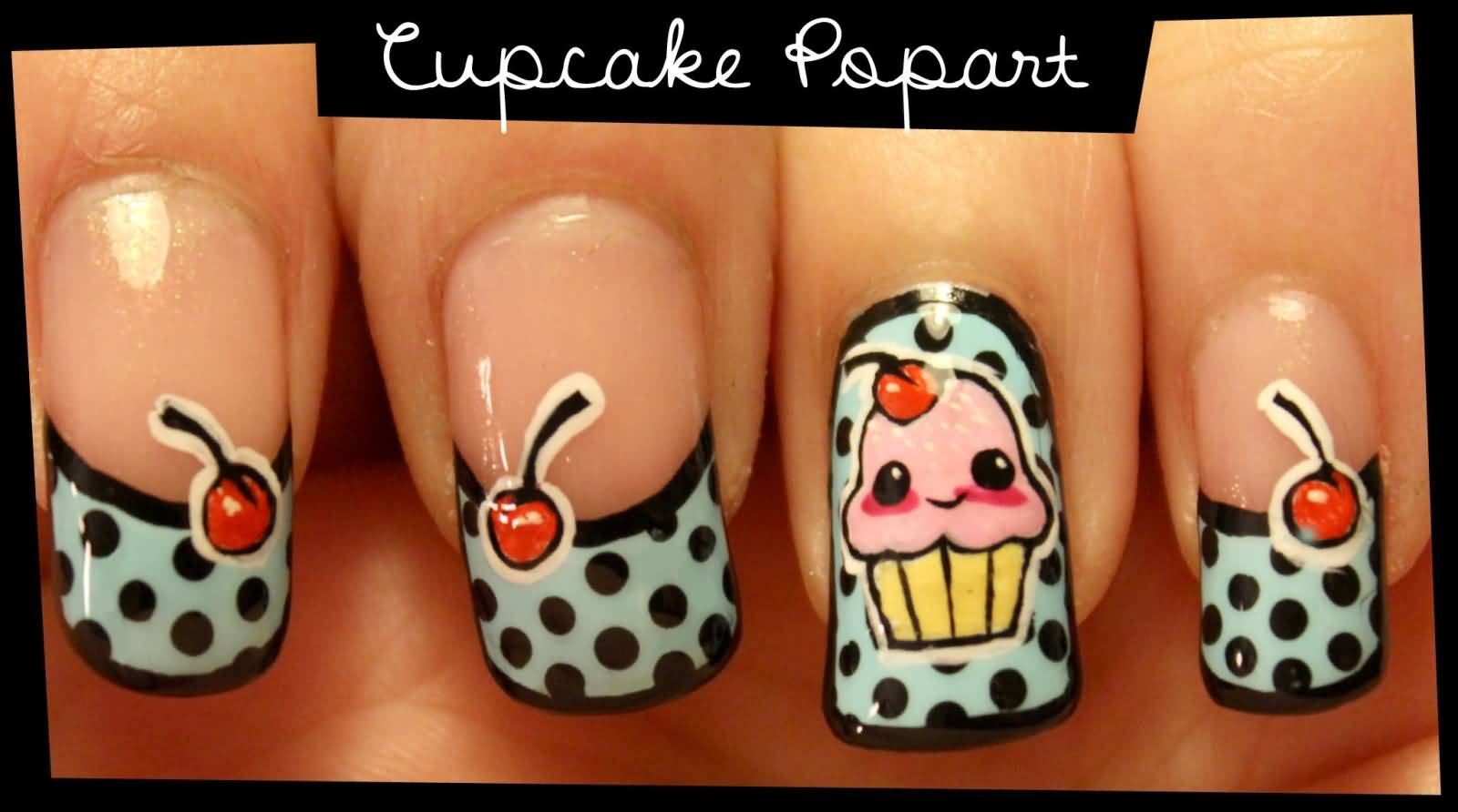 Cupcake Nail Art Design : 51 Wonderful Cupcake Nail Art Design Ideas For Girls