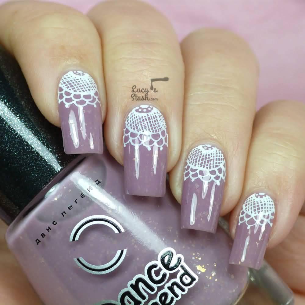 Fantastic Purple Wedding Nails Pattern - Nail Art Ideas - morihati.com