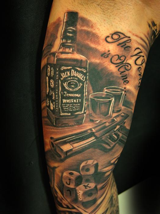 45 wonderful jack daniels tattoos ideas. Black Bedroom Furniture Sets. Home Design Ideas