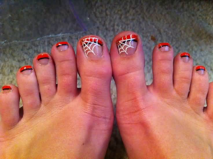50 Most Beautiful Spider Web Halloween Nail Art Designs