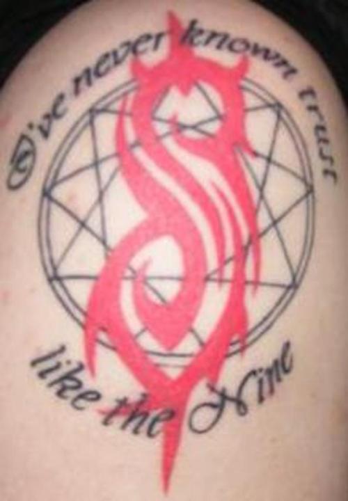 64 latest slipknot tattoos for Tattoos slipknot logo