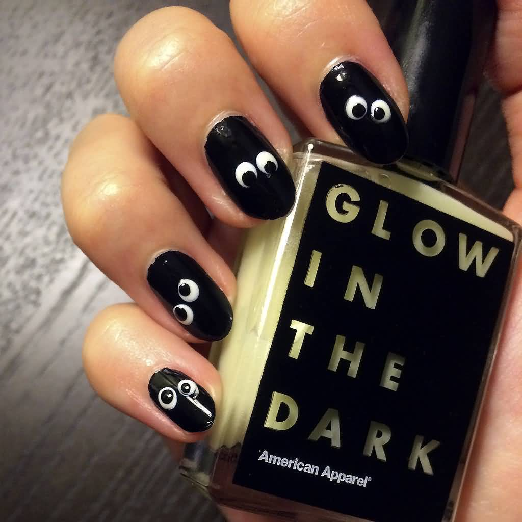 The Ten Scariest Nail Art Designs For Halloween: 50 Cool Halloween Nail Art Design Ideas