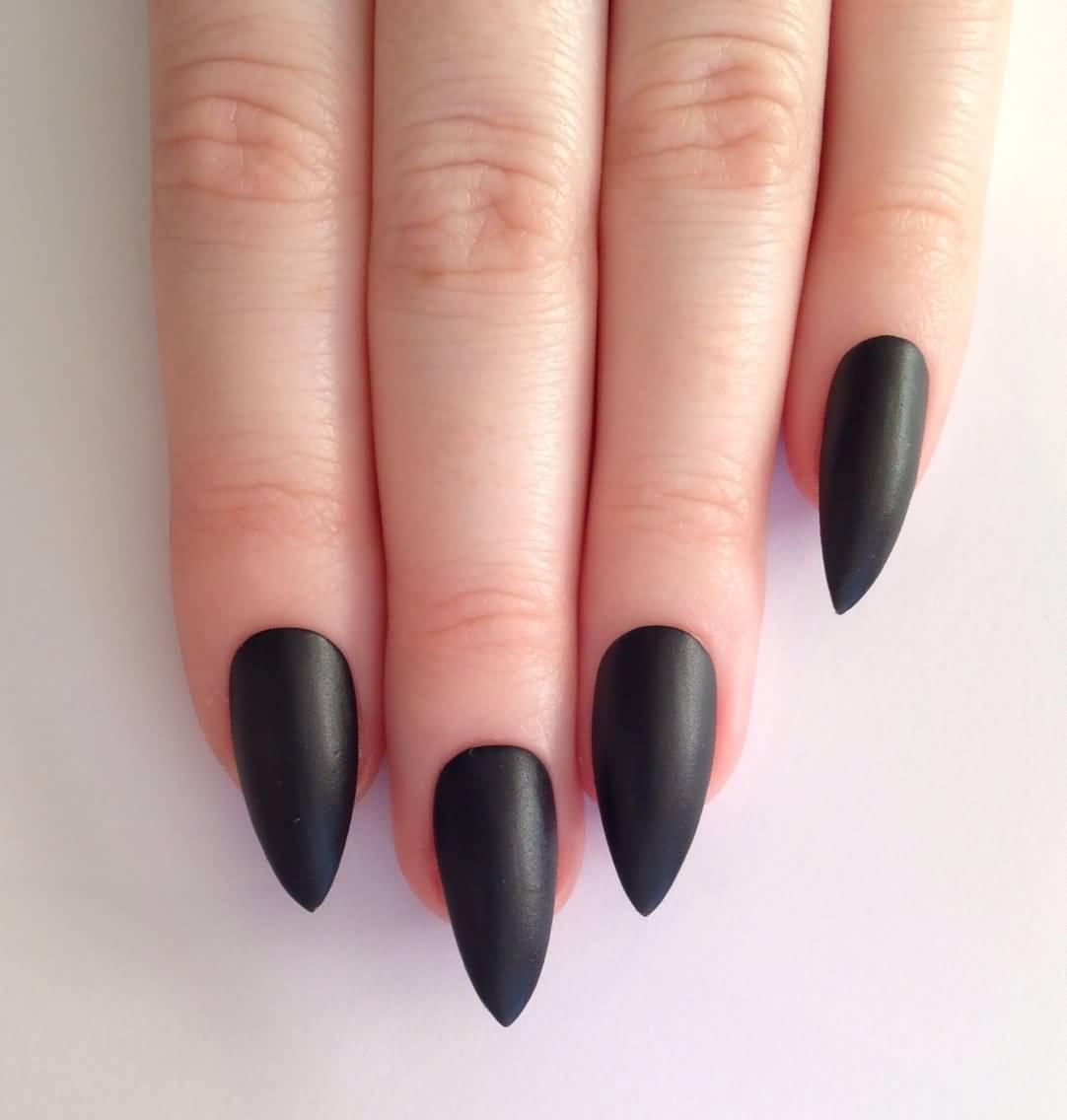 45 Beautiful Black Matte Nail Art Designs