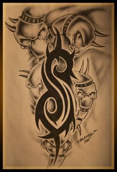 18 amazing slipknot logo tattoos. Black Bedroom Furniture Sets. Home Design Ideas