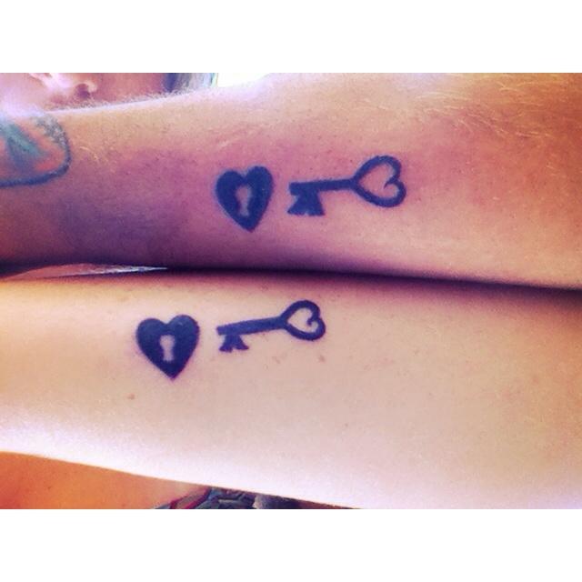 Small Key Tattoo: 60+ Cool Matching Tattoos