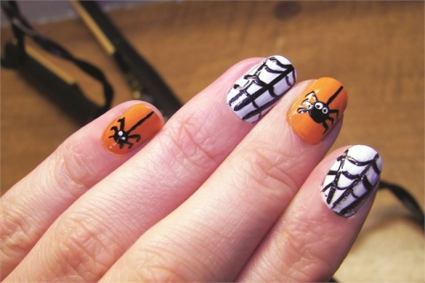 Spider And Web Halloween Nail Art - 50 Most Beautiful Spider Web Halloween Nail Art Designs