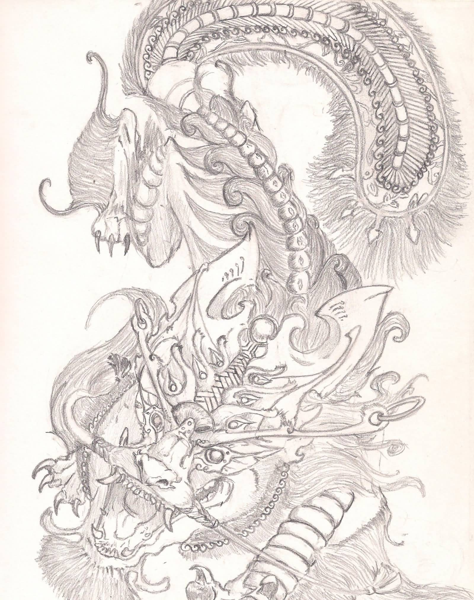 Superb Chinese Foo Dog Tattoo Design By Ronisamurai87
