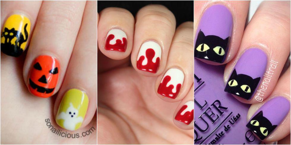 50 cool halloween nail art design ideas three beautiful halloween nail art design idea prinsesfo Images