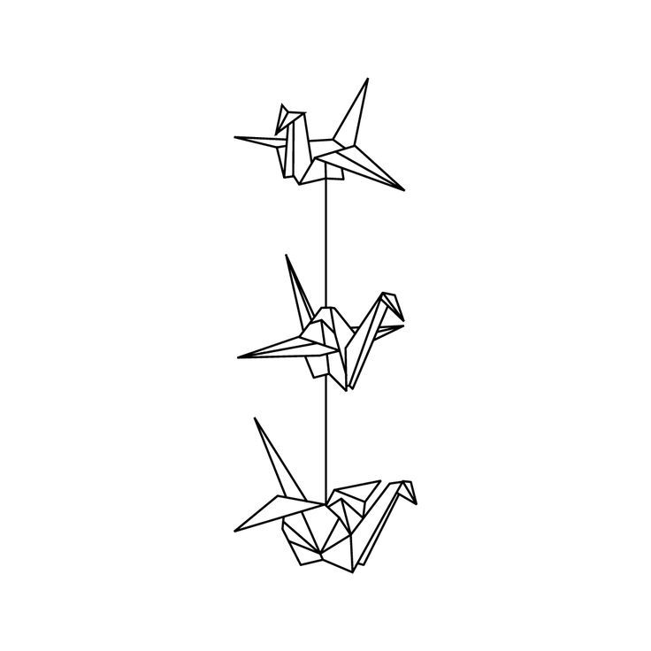19 amazing crane tattoo designs for Paper crane tattoo