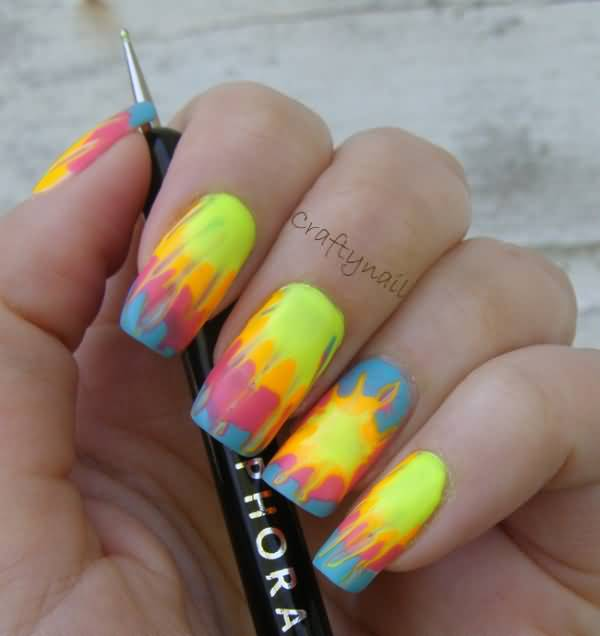 Trendy Neon Nail Art Designs