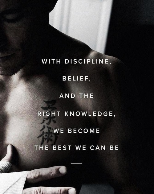 With discipline, belief, and the right knowledge, we become the best we can be.