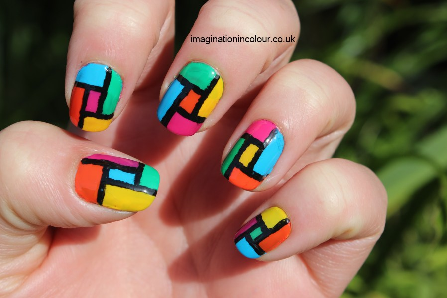 50 latest multicolor nail art designs abstract multicolored pattern nail art prinsesfo Choice Image