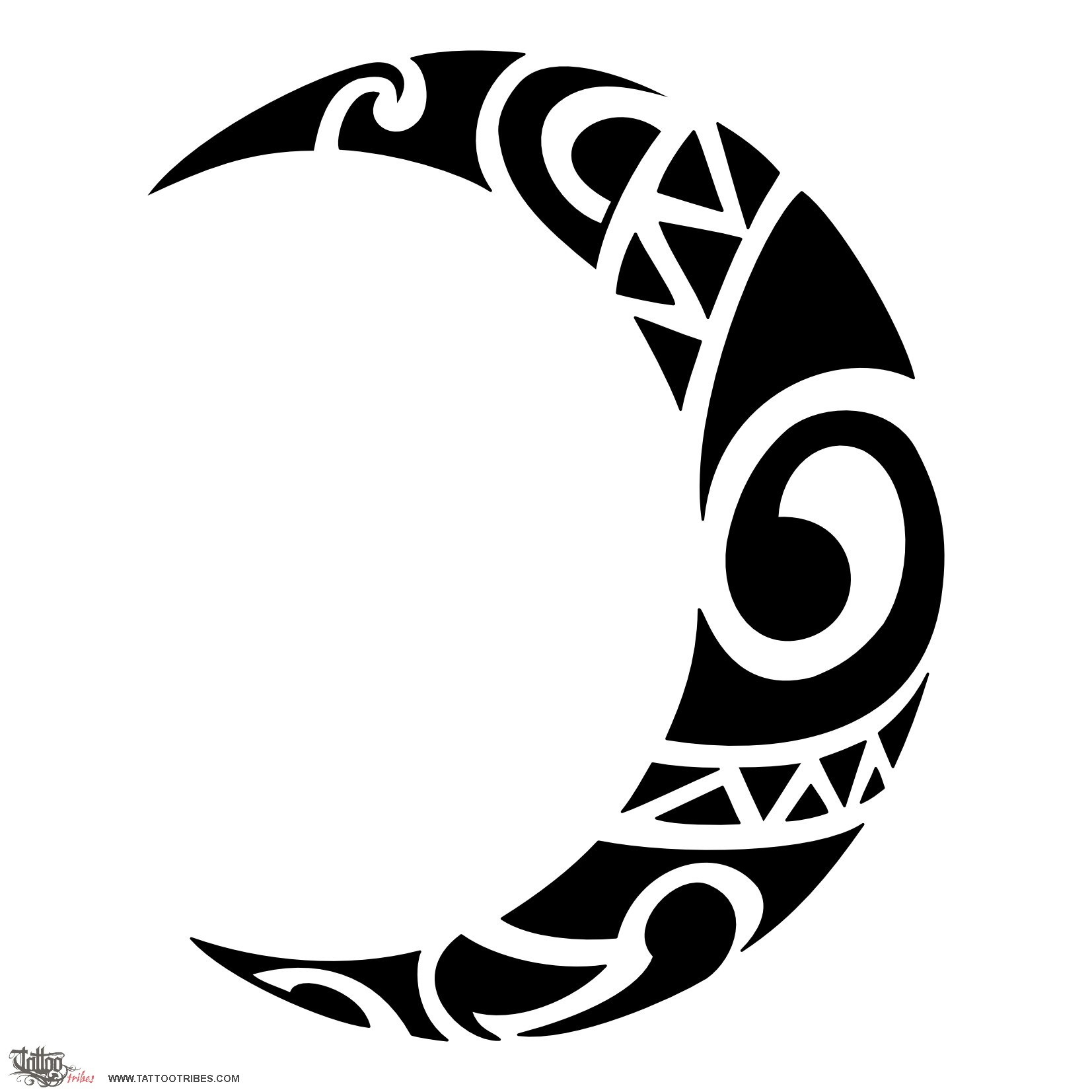 43 Tribal Moon Tattoos