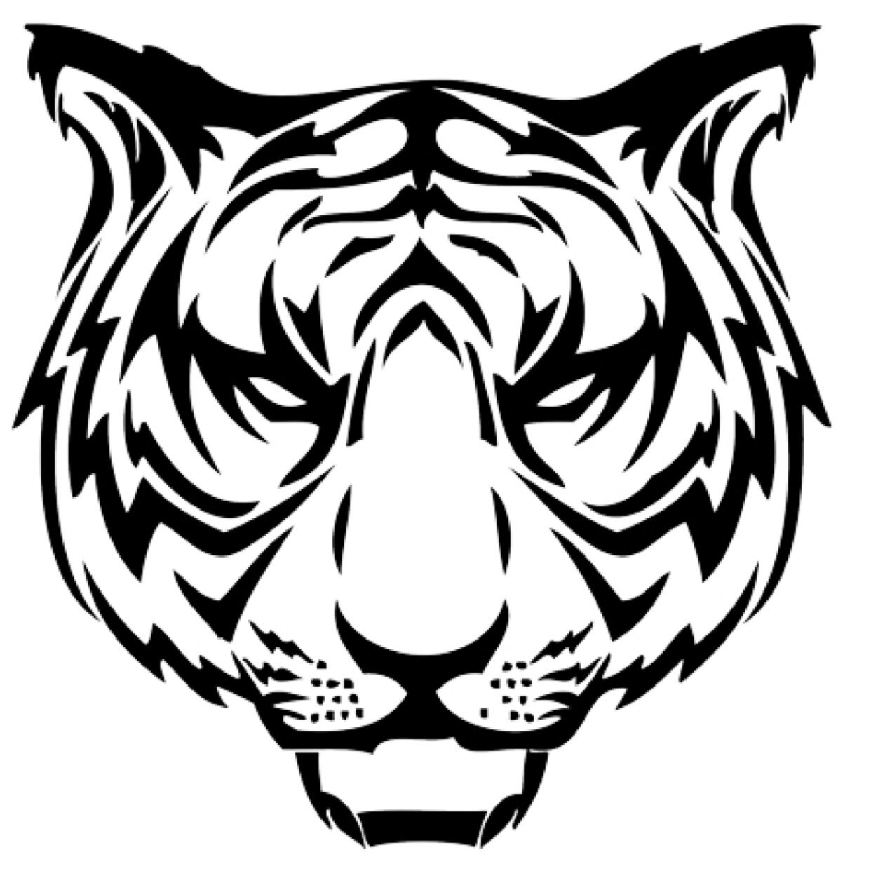 7d82a5bfd Amazing Tiger Head Tattoo Stencil