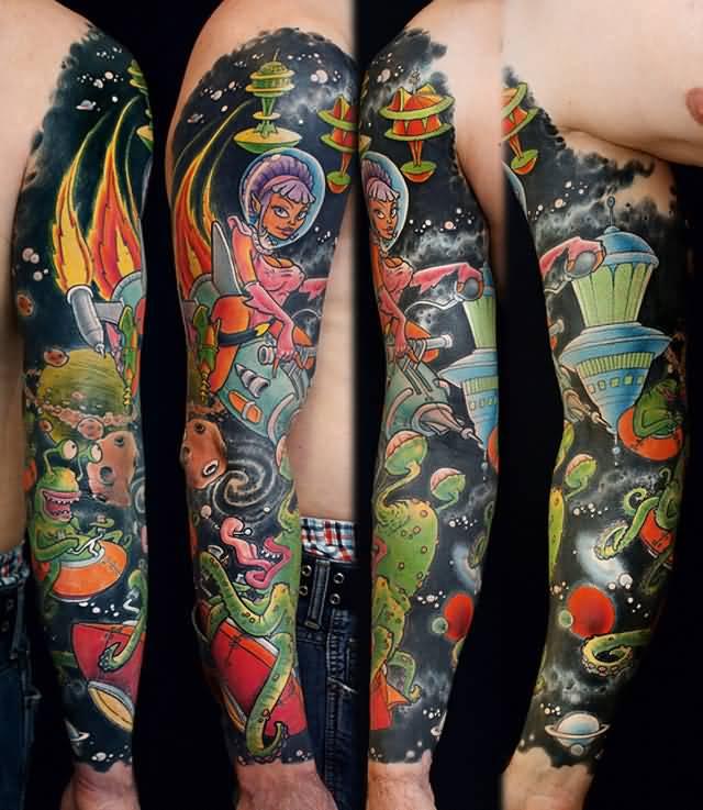39 wonderful universe tattoos. Black Bedroom Furniture Sets. Home Design Ideas