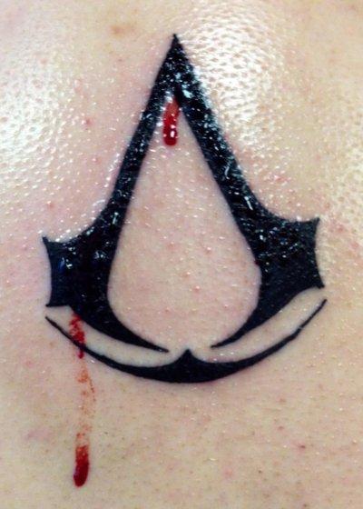 Assassins Creed Logo Tattoo By Akakiiromidoriaoi